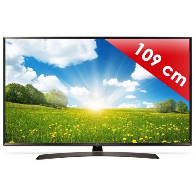 lg 43uj634v 109 cm smart tv led 4k uhd pas cher achat vente tv led de 40 39 39 49. Black Bedroom Furniture Sets. Home Design Ideas