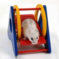 Wewoo - Jouet pour Animaux Jouets en bois de hamster Rainbow Swing, livraison aléatoire de couleur, taille: 13 9 10cm