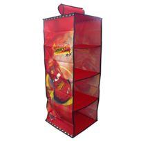 Disney - Casiers rangement à suspendre rouge 30x30x80cm Cars