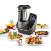 KLARSTEIN - Food Circus Robot de cuisine Cuiseur vapeur 10 programmes 500/1100 W - gris