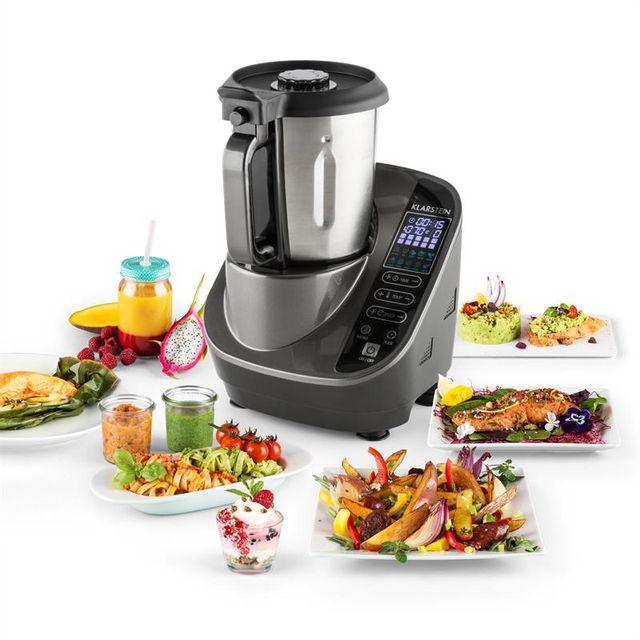 KLARSTEIN Food Circus Robot de cuisine Cuiseur vapeur 10 programmes 500/1100 W - gris