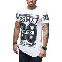 Carisma - Tee shirt fashion homme tee shirt Crsm4236 blanc