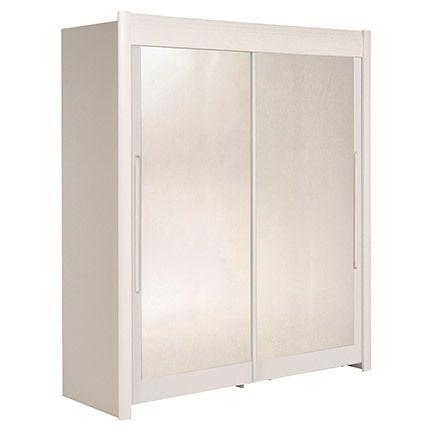 Armoire 182x207x61cm avec portes coulissantes - blanc