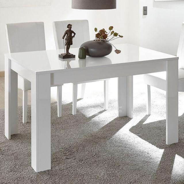 Kasalinea Table à manger 180 cm blanche design Mabel
