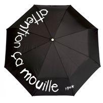 Incidence - Parapluie Ze P'BROK Pliant - Attention ça mouille - noir