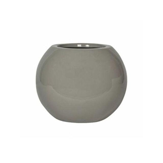 Pottery Pots Pot De Fleur Mini Beth Sable Glossy En Fiberstone E3003-S1-S