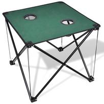 Rocambolesk - Superbe Table de camping pliante vert foncé Neuf