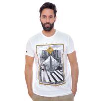 Deeluxe 74 - Tshirt Homme Slide Blanc