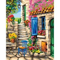 Oz International - Peinture au numéro Maxi : Patio fleuri
