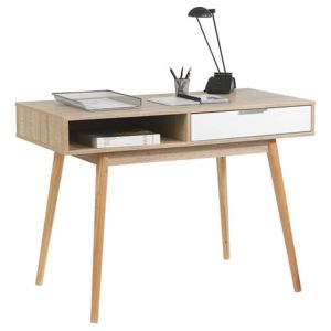 bureau blanc style scandinave. Black Bedroom Furniture Sets. Home Design Ideas