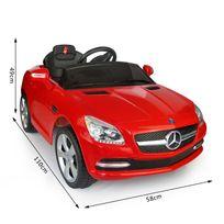 MERCEDES BENZ - Mercedes-Benz SLK voiture véhicule électrique pour enfants 6 V 3-4 Km/h phares musique télécommande rouge 02RD