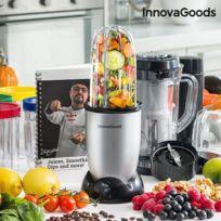 - Blender mixeur en verre 4 verres et 2 récipients avec livre de recette - Préparation smoothie jus de fruit mixer aliments