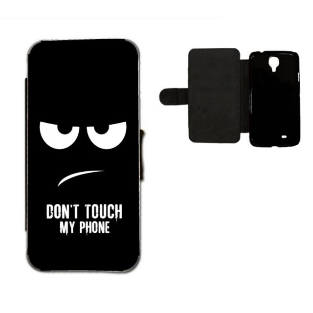 coque à rabat samsung s8 don't touch my phone