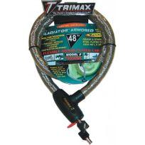 - Antivol Gladiator Series Armored Cable 122 cm-TRIMAX-4010-0010