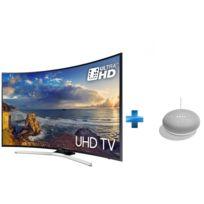 Samsung - TV LED 49'' 124 cm UE49MU6220WXXN + Enceinte intelligente - Google Home mini