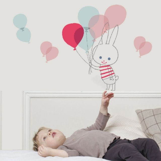 Art For Kids - Sticker lapin ballon de Shinzi Katoh Rose