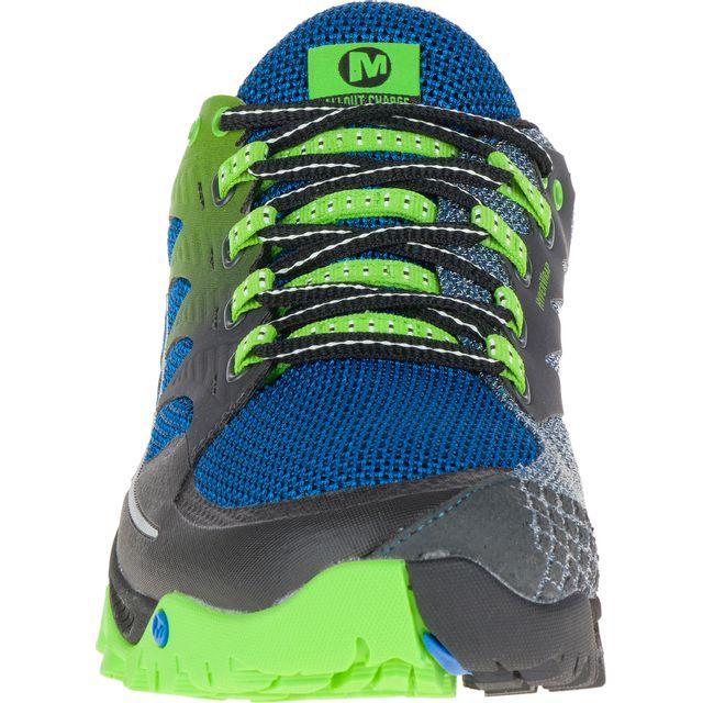 Merrell Chaussures All Out Charge bleu vert femme pas