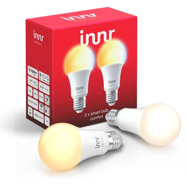 INNR - Ampoule connectée E27 - ZigBee 3.0 - Pack de 2...
