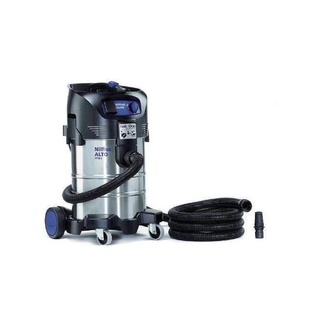 Alto Nilfisk - Aspirateur eau et poussière 37L 1500W Inox et Décolmatage Attix 40-21 Pc Inox