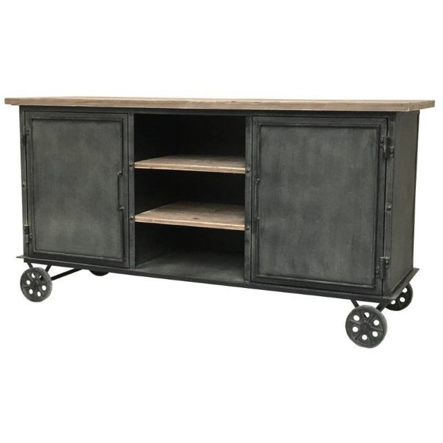 chemin de campagne buffet bahut console enfilade meuble cuisine roulettes bois fer atelier. Black Bedroom Furniture Sets. Home Design Ideas