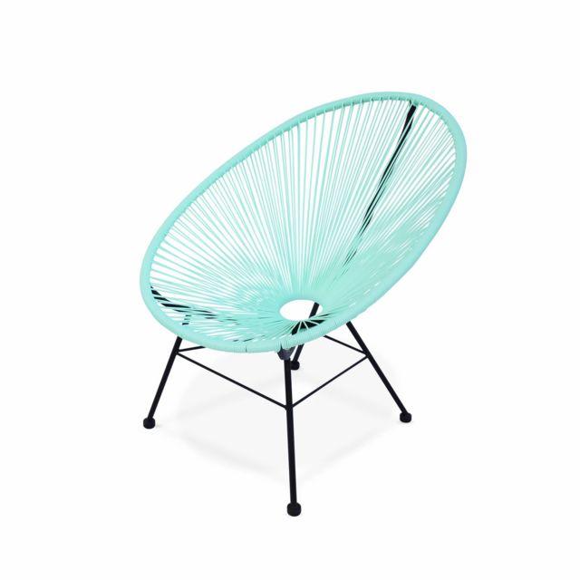 alice 39 s garden fauteuil design oeuf acapulco vert d. Black Bedroom Furniture Sets. Home Design Ideas