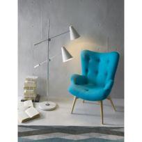 Ma Maison Mes Tendances - Lampadaire 2 lampes 150 cm blanc Remus - L 30 x l 100 x H 150