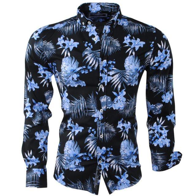 d41bf09f957c Carisma - Chemise hawaienne pour homme Chemise 8394 noir - pas cher ...