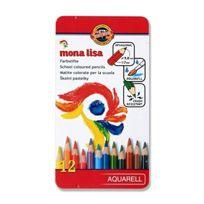 Koh-I-Noor - Mona Lisa Crayons De Couleur Aquarellables SET De 12