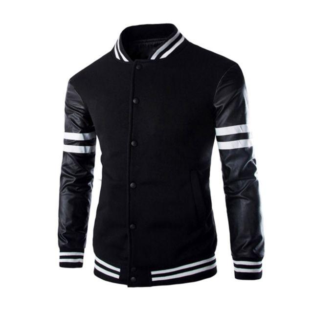 a181fcab5277e8 vestes-et-gilets-noir -hommes-stripe-manches-manteau-slim-casual-stand-col.jpg