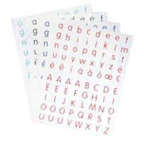 Majuscule - gommettes alphabet - blister de 320