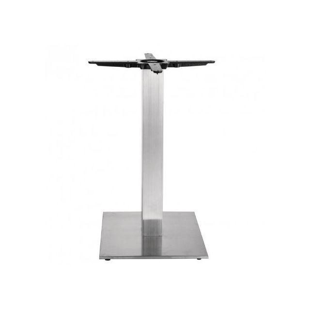 Materiel Chr Pro Pied de table carré inox pour plateau rond jusqu'à 800 - Bolero