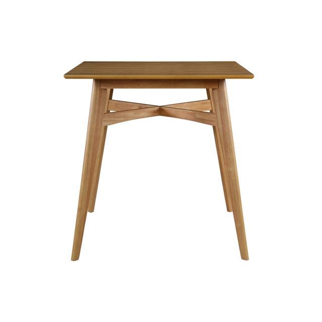 Miliboo Table de bar carrée bois clair Leena