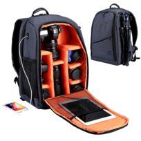 Sac à Dos Appareil Photo Gris Outdoor Portable Imperméable à Leau Scratch Preuve à Double épaule à De Caméra Version De Mise à Niveau
