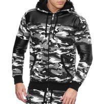 Violento - Veste jogging homme sportswear Veste 1700 blanc camo