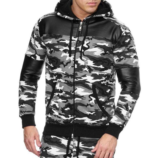 Veste Violento Jogging 1700 Camo Homme Blanc Sportswear qqrnOd