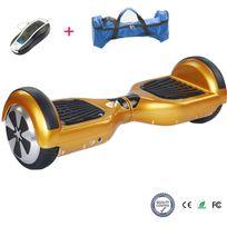 Cool&FUN Hoverboard, Scooter électrique Auto-équilibrage,gyropode 6,5 pouces Doré