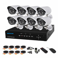 Auto-hightech - Kit camera de surveillance 4CH H.264 Cctv Nvr Kit wifi 4 camera Hd 720p Ip