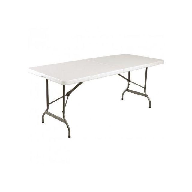 Materiel Chr Pro Table pliable au centre Bolero blanche 1829 mm - Blanc