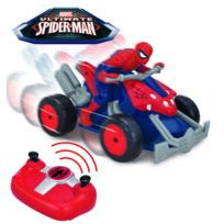 MARVEL - SPIDERMAN - Moto Quad radiocommandé de 23cm multidirectionnel - 7903