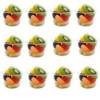 Touslescadeaux - 12 Verrines en Verre - verrines à apéritifs, dessert, sucré, salé