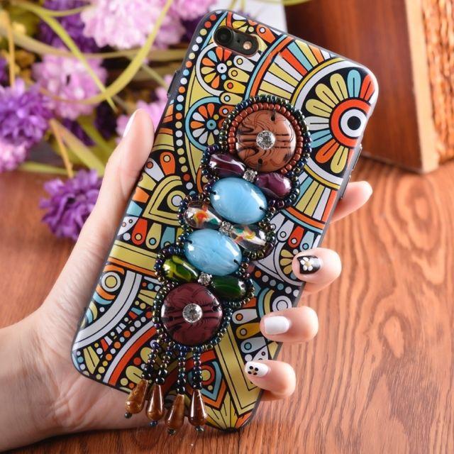 Le Style Ethnique wewoo - coque pour femme iphone 8 & 7 retro style ethnique étui de