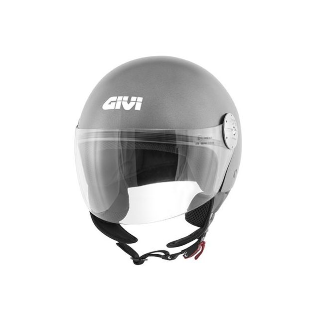 Givi Casque Jet Moto Scooter 107 Mini J Solid Titane Mat Pas