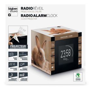 bigben interactive radio r veil cube projecteur d cor lapin pas cher achat vente r veil. Black Bedroom Furniture Sets. Home Design Ideas