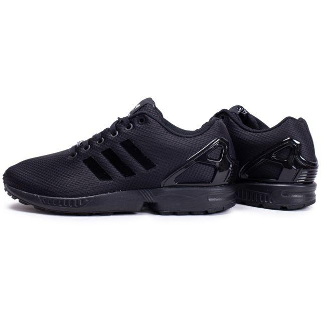 Adidas - Zx Flux Noir Argent - pas cher Achat / Vente ...