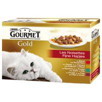Gourmet - Boîte Gold Les Noisettes pour Chat - 12x85g