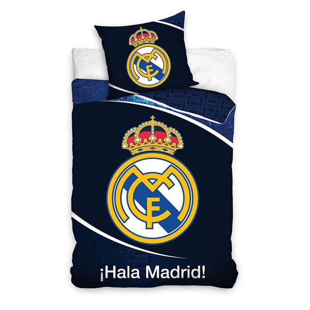 Bebe Gavroche Parure de lit Real Madrid réversible 100% coton 140 x 200 cm