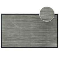 Tapis Deco - Cdaffaires Tapis rectangle 45 x 75 cm pvc tisse tonio Noir