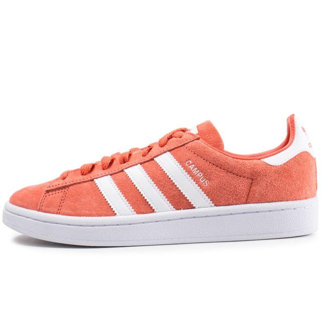 Adidas originals Campus Corail Et Blanc Orange pas cher