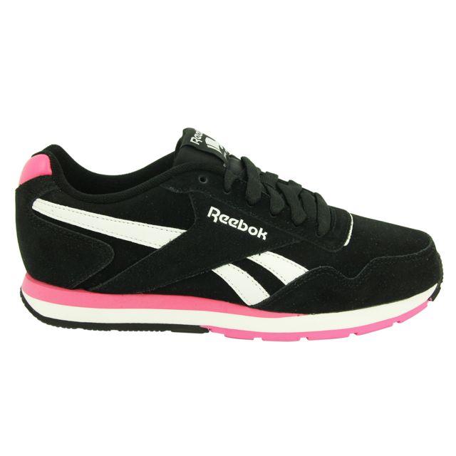 Chaussures Reebok Suede Noir Sneakers Mode Glide Femme Royal Cuir EAAqUwp