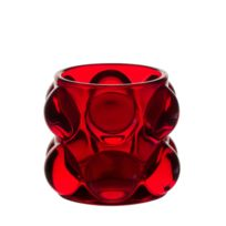 TABLE PASSION - PHOTOPHORE PERLE TUBE BAS VERRE ROUGE H7